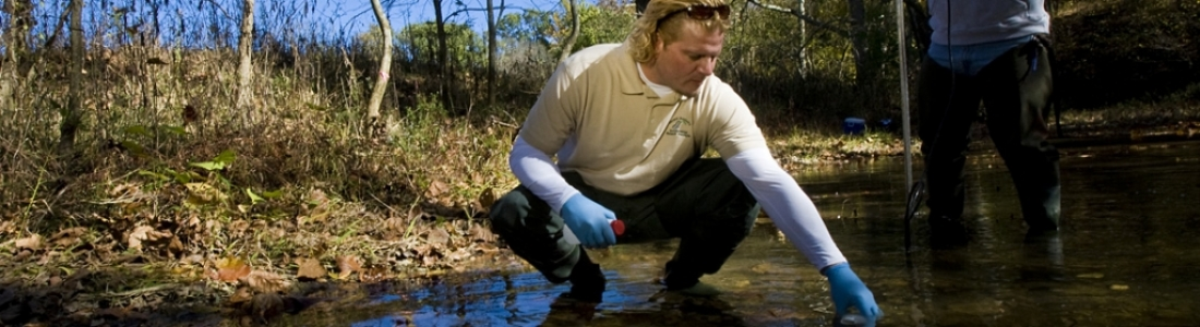 Wildlife management student conducts field research